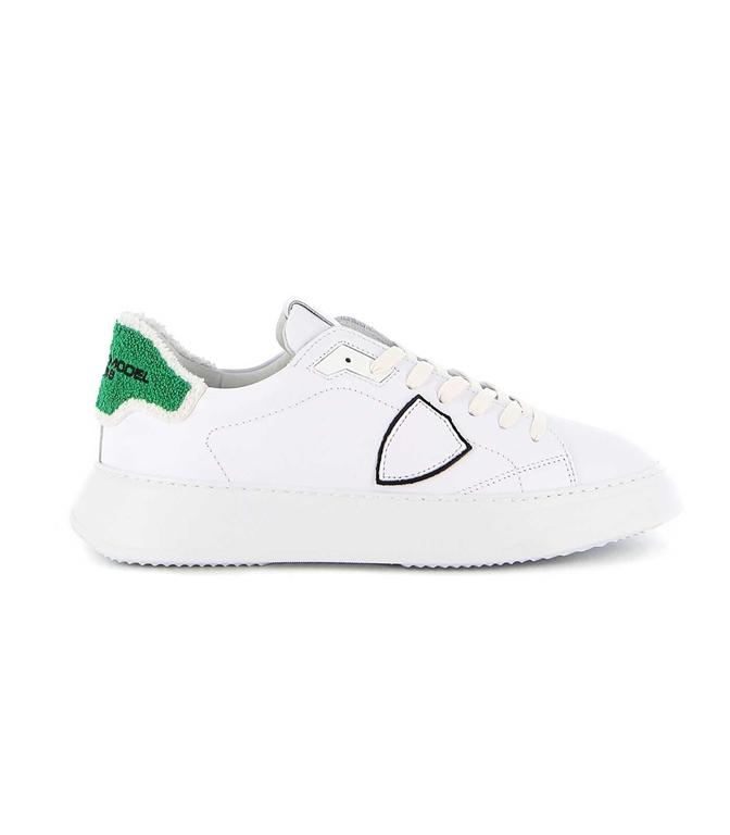 Philippe Model - Scarpe - Sneakers - TEMPLE VEAU EPONGE BIANCA-VERDE