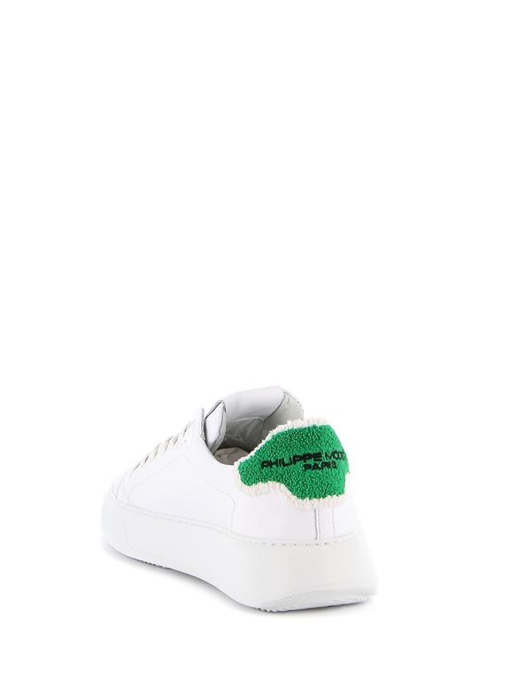 Philippe Model - Scarpe - Sneakers - temple veau eponge bianca-verde 1
