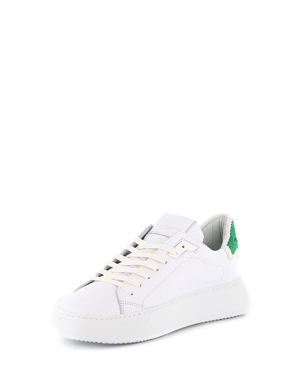 Philippe Model - Scarpe - Sneakers - temple veau eponge bianca-verde 2