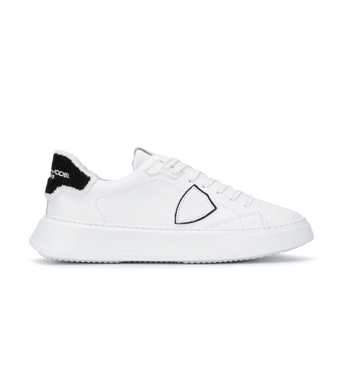Philippe Model - Scarpe - Sneakers - TEMPLE VEAU EPONGE BIANCA-NERA