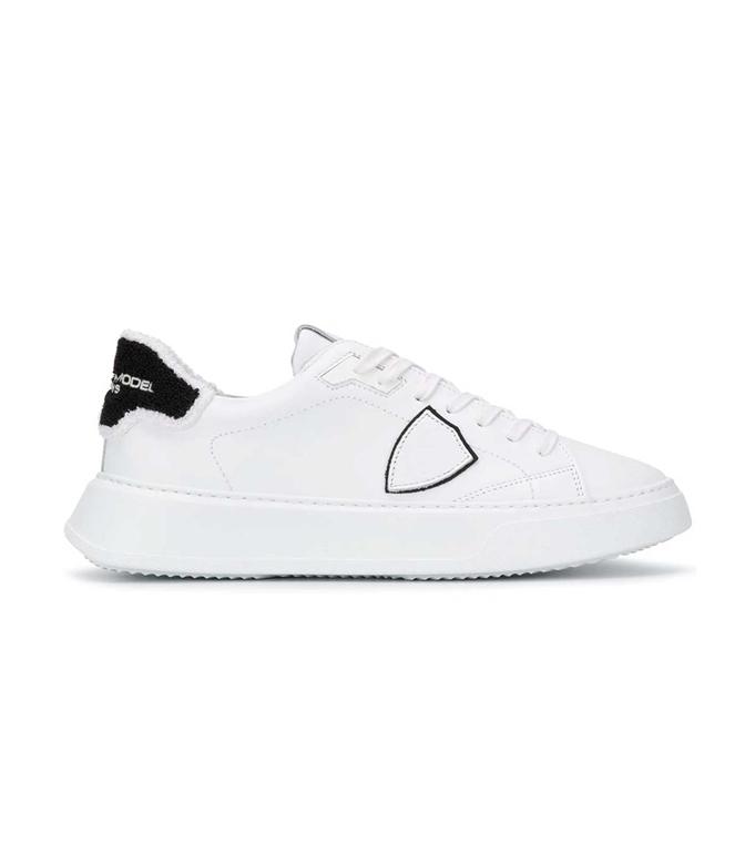 Philippe Model Paris - Scarpe - Sneakers - TEMPLE VEAU EPONGE BIANCA-NERA