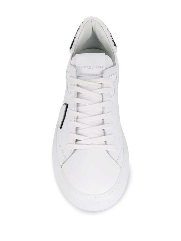 Philippe Model - Scarpe - Sneakers - temple veau eponge bianca-nera 1