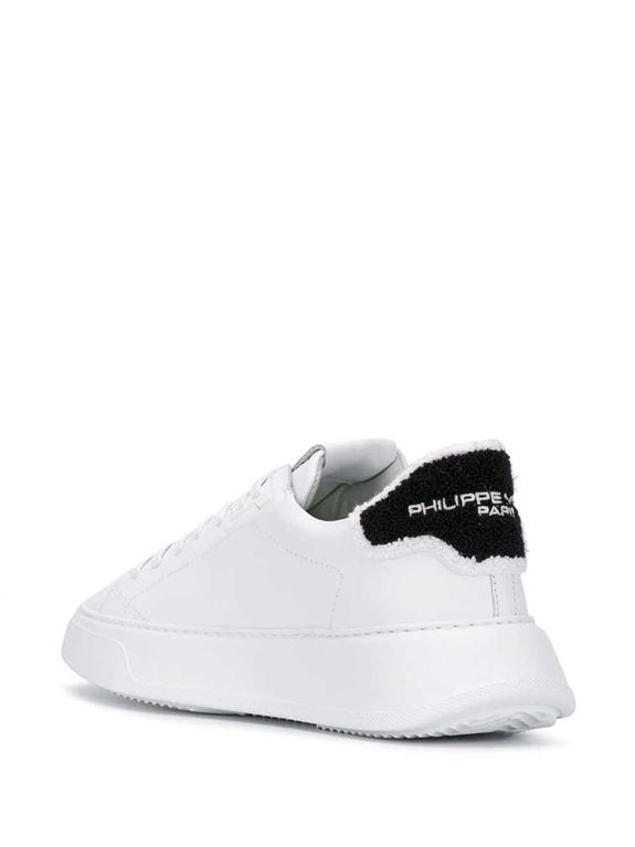 Philippe Model - Scarpe - Sneakers - temple veau eponge bianca-nera 2