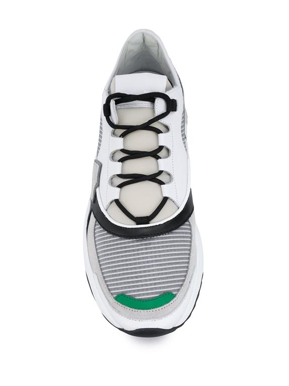 Philippe Model Paris - Scarpe - Sneakers - eze mondial tech gris verde 1