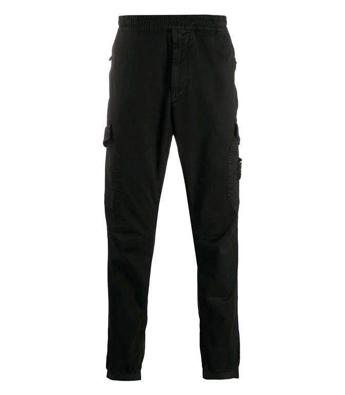 Stone Island - Pantaloni - cargo elasticizzato t.co 'old' nero