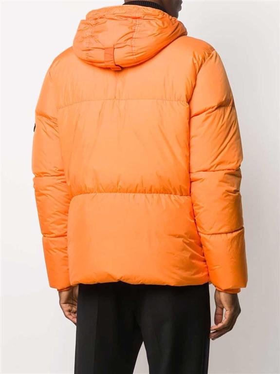 Stone Island - Giubbotti - giubbotto vera piuma garment-dyed arancio 1