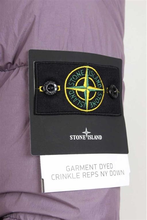 Stone Island - Giubbotti - giubbotto vera piuma garment-dyed magenta 1