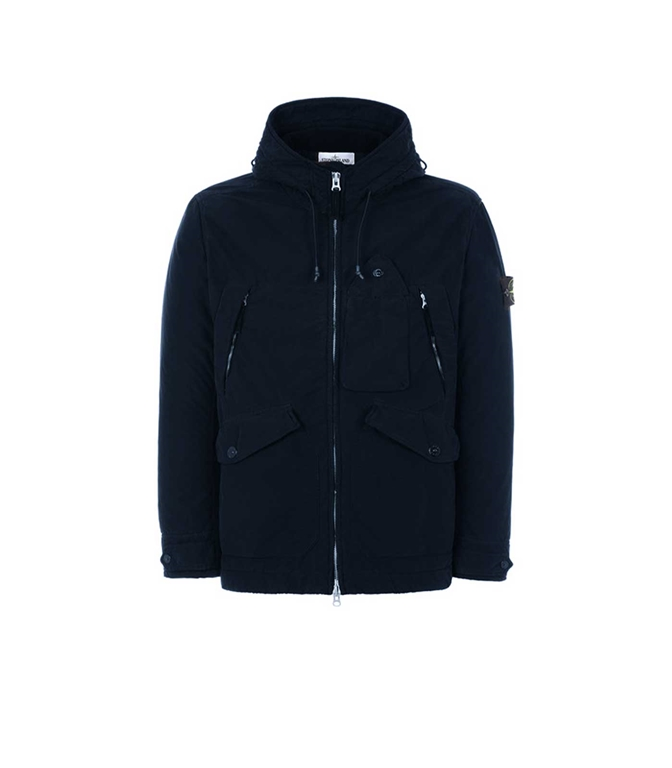 Stone Island - Giubbotti - GIUBBOTTO DAVID LIGHT-TC CON MICROPILE BLU