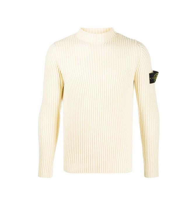 Stone Island - Maglie - maglione collo a imbuto burro