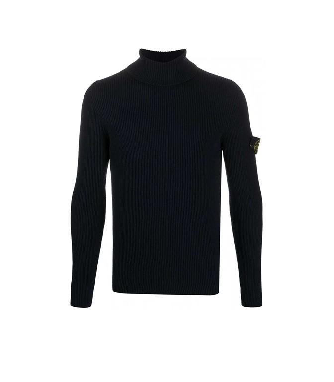Stone Island - Maglie - maglione collo alto blu marine