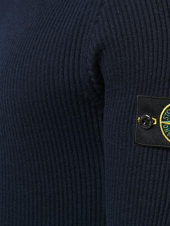 Stone Island - Maglie - maglione collo alto blu marine 1