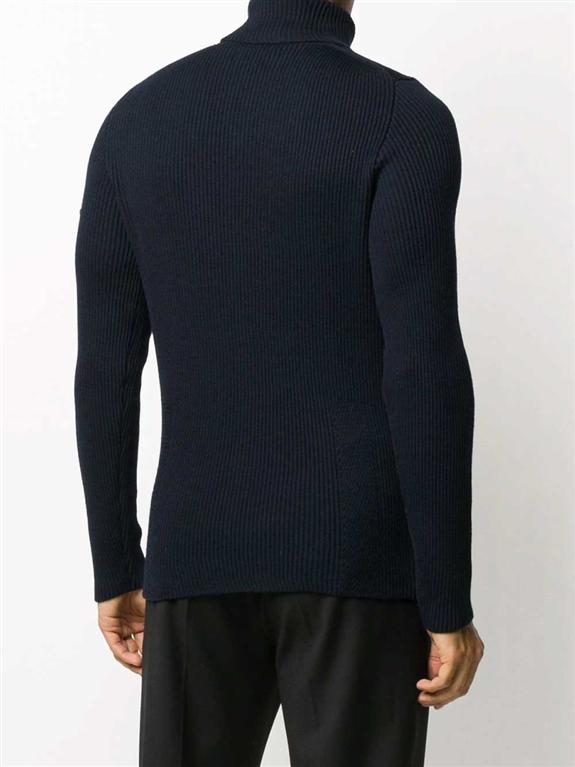 Stone Island - Maglie - maglione collo alto blu marine 2