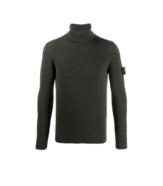 Stone Island - Maglie - maglione collo alto muschio
