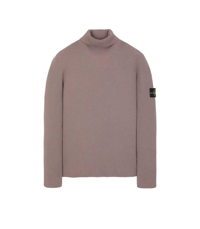 Stone Island - Maglie - maglione collo alto fango
