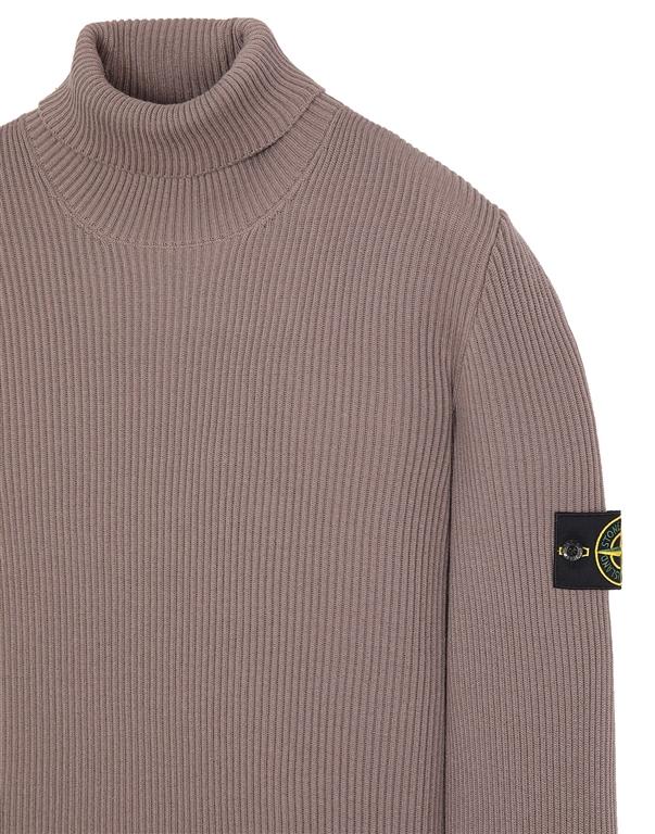 Stone Island - Maglie - maglione collo alto fango 2