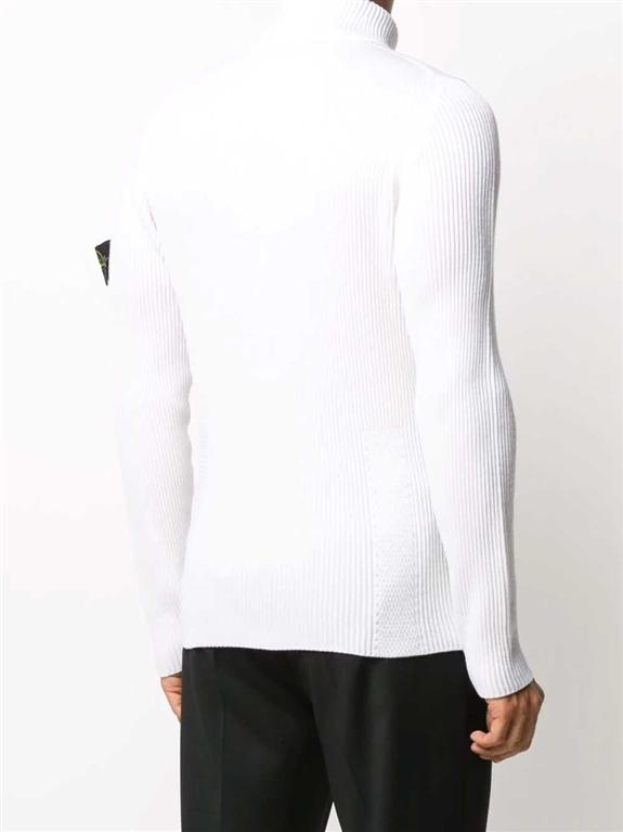 Stone Island - Maglie - maglione collo alto bianco 2
