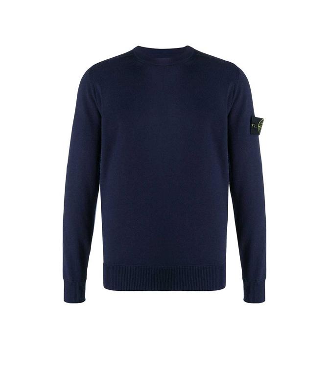 Stone Island - Maglie - maglia girocollo blu