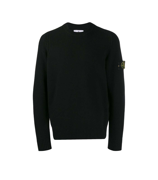 Stone Island - Maglie - maglione girocollo nero
