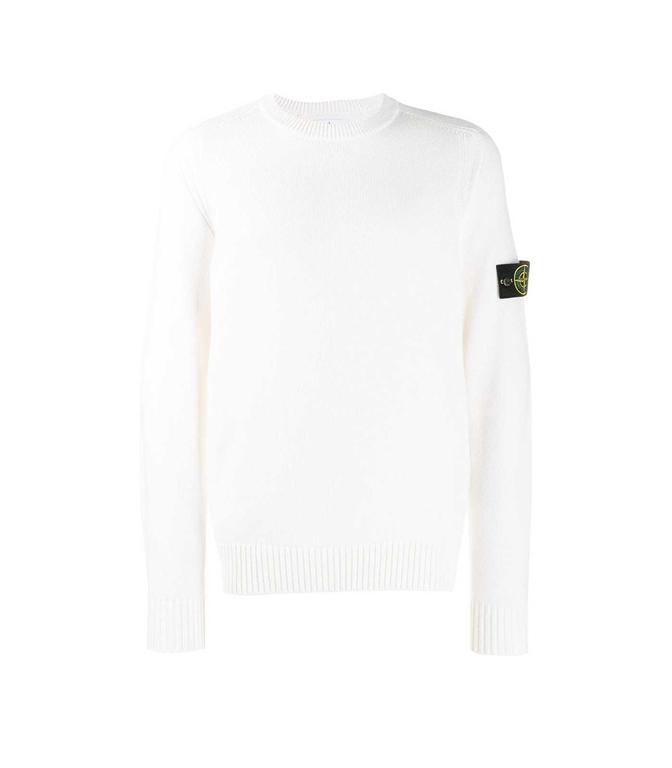 Stone Island - Maglie - maglione girocollo bianco