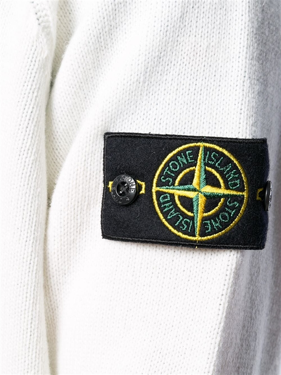 Stone Island - Maglie - maglione girocollo bianco 1