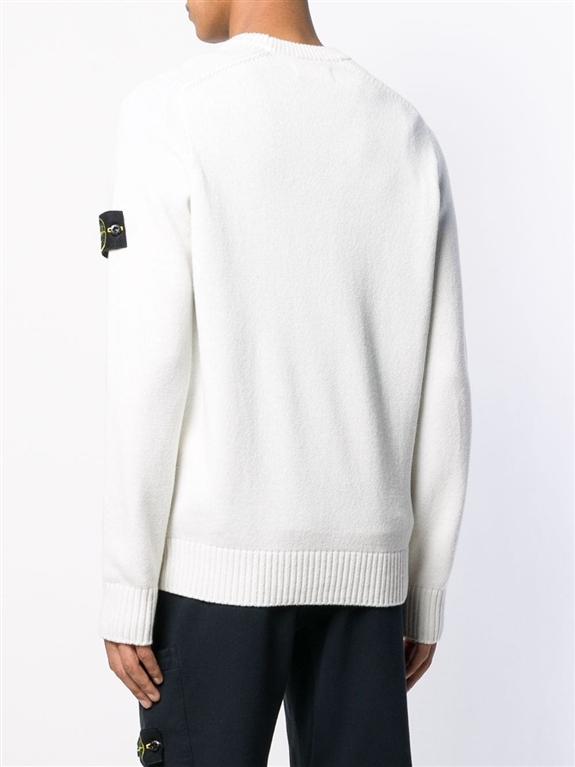 Stone Island - Maglie - maglione girocollo bianco 2