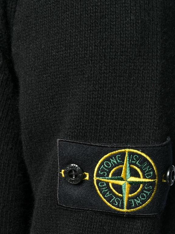 Stone Island - Maglie - cardigan con bottoni nero 1