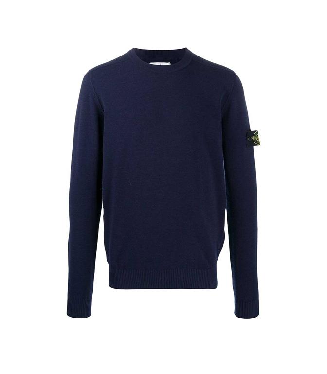 Stone Island - Maglie - maglione girocollo blu