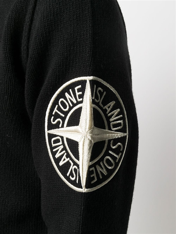 Stone Island - Maglie - maglione lana nero 1