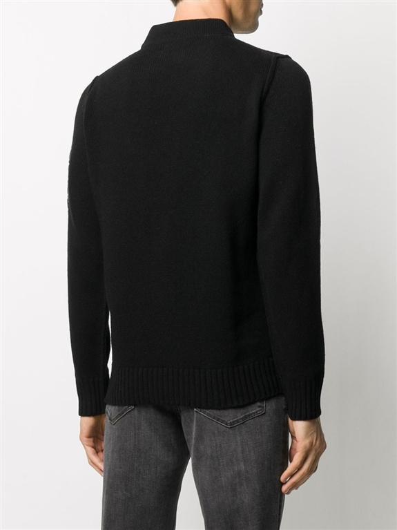 Stone Island - Maglie - maglione lana nero 2