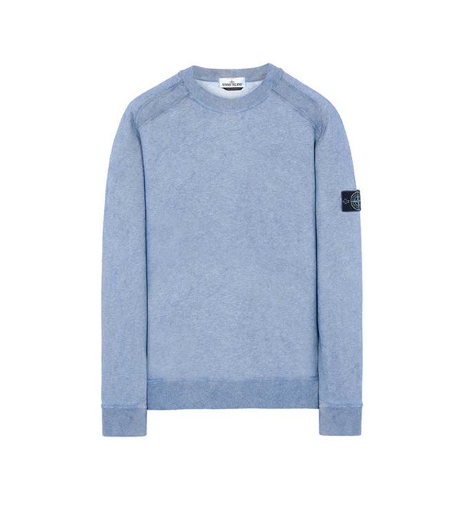Stone Island - Felpe - felpa dust colour azzurra