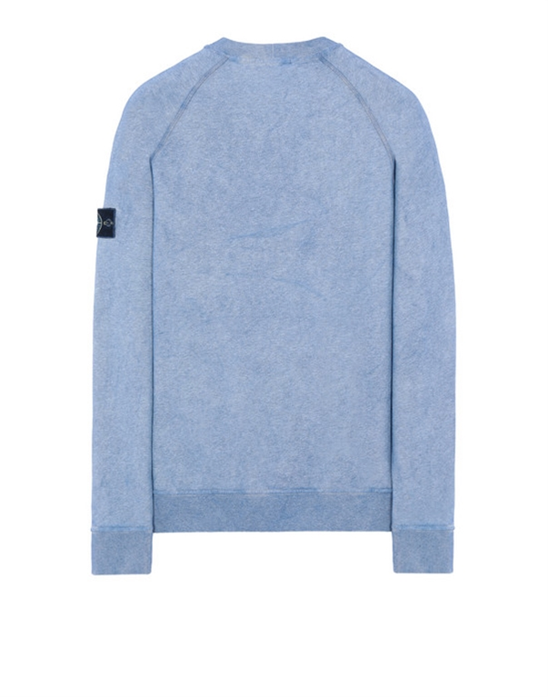 Stone Island - Felpe - felpa dust colour azzurra 1