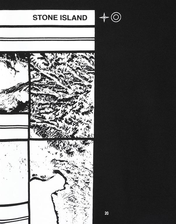 Stone Island - Felpe - felpa mural part 3 nera 1