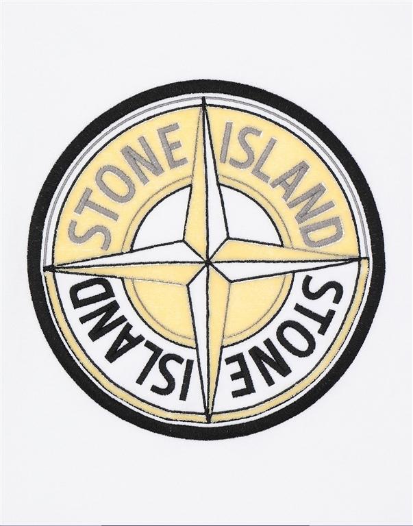 Stone Island - Felpe - felpa 3d thread compass bianca 2
