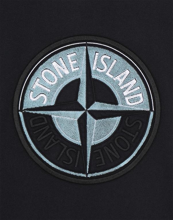 Stone Island - Felpe - felpa 3d thread compass blu 2