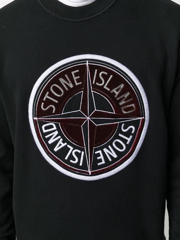 Stone Island - Felpe - felpa 3d thread compass nera 1