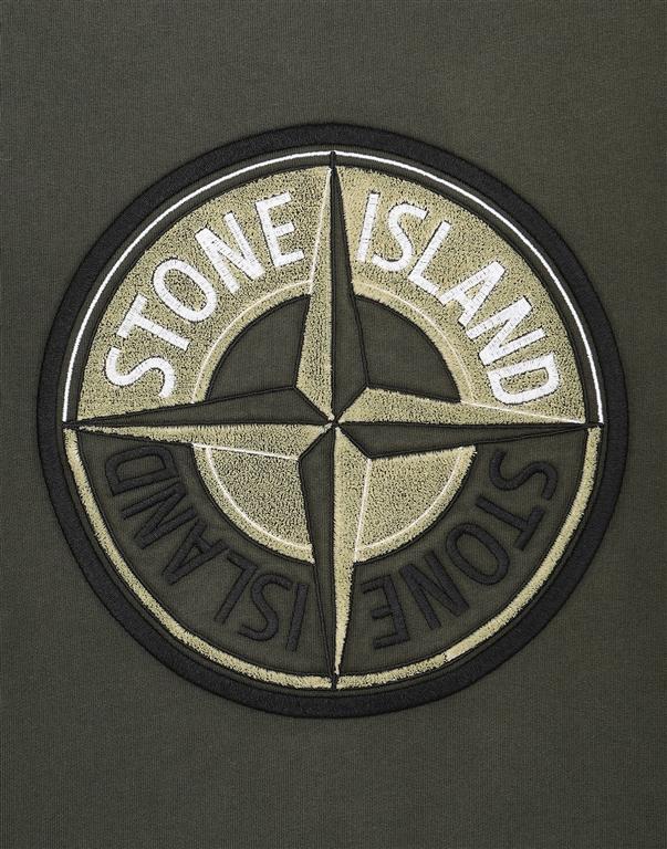 Stone Island - Felpe - felpa 3d thread compass muschio 2