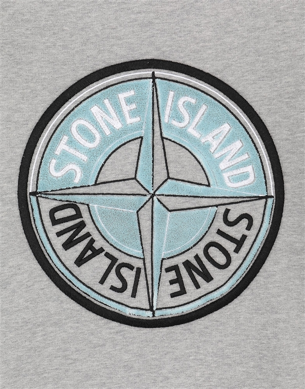 Stone Island - Felpe - felpa thread compass grigia 2