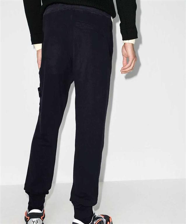 Stone Island - Pantaloni - pantalone in felpa blu 1