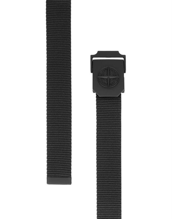 Stone Island - Cinture - cintura nylon nera 1