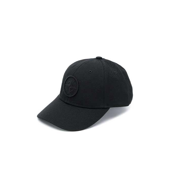 Stone Island - Cappelli - cappello con visiera nero