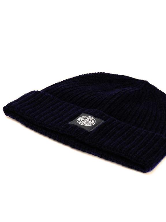 Stone Island - Cappelli - berretto coste blu 1