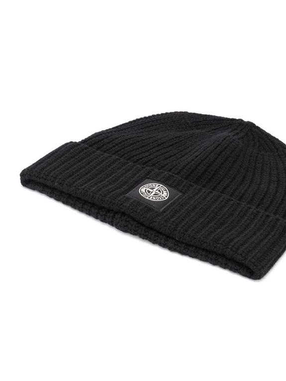 Stone Island - Cappelli - berretto coste nero 1