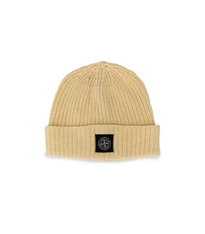 Stone Island - Cappelli - berretto coste tortora