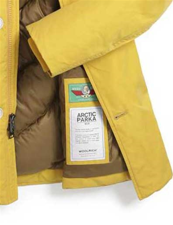 Woolrich - Giubbotti - eco byrd cloth arctic parka giallo 1