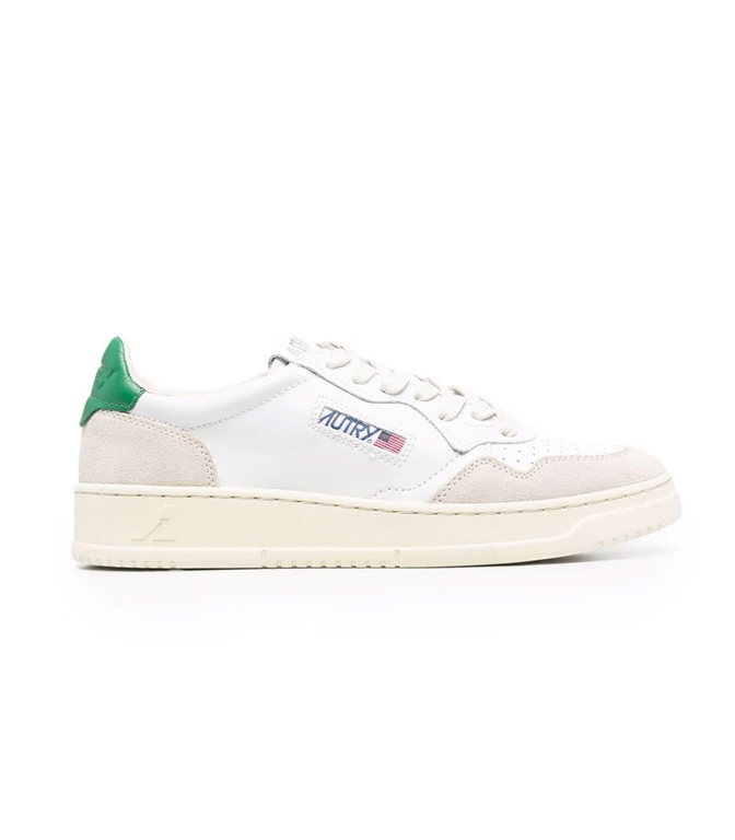 Autry - Scarpe - Sneakers - AUTRY SNEAKERS MEDALIST LOW IN PELLE E SUEDE BIANCO VERDE