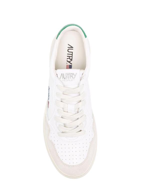 Autry - Scarpe - Sneakers - autry sneakers medalist low in pelle e suede bianco verde 1