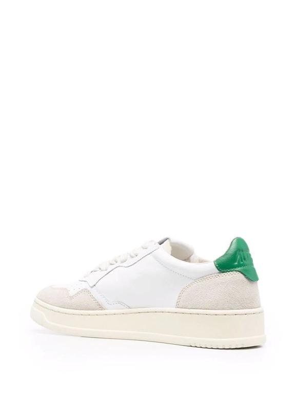 Autry - Scarpe - Sneakers - autry sneakers medalist low in pelle e suede bianco verde 2