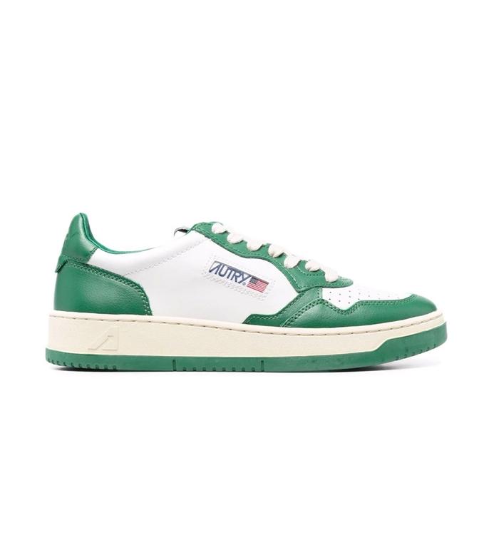 Autry - Scarpe - Sneakers - AUTRY SNEAKERS MEDALIST LOW IN PELLE BIANCO VERDE