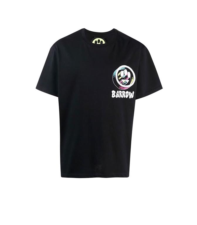 Barrow - T-Shirt - t-shirt in jersey con logo 3d nera