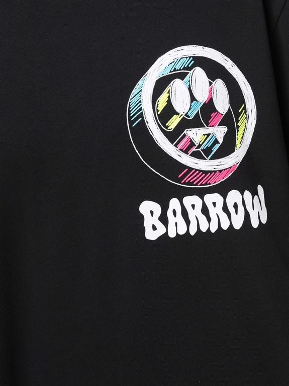 Barrow - T-Shirt - t-shirt in jersey con logo 3d nera 2